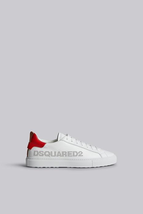 DSQUARED2 Men Sneaker White Size 7 100% Calfskin