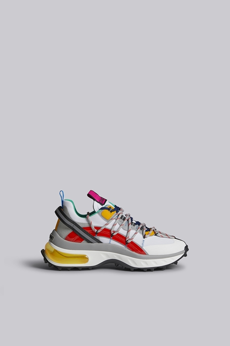 DSQUARED2 Men Sneaker White Size 8 45% Polyester 25% Polyurethane 12% Thermoplastic polyurethane 10% Polyamide 8% Calfskin