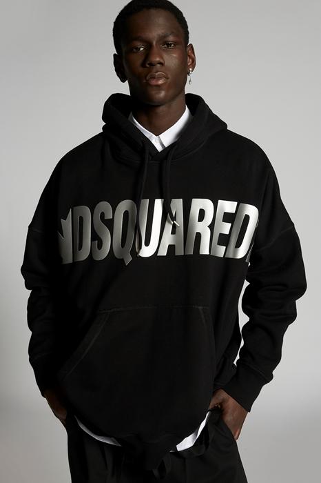 DSQUARED2 Men Sweatshirt Black Size M 100% Cotton
