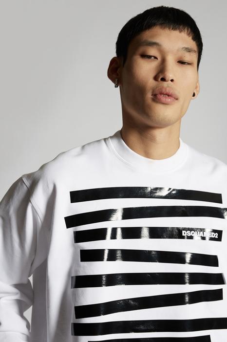 DSQUARED2 Men Sweatshirt White Size S 100% Cotton