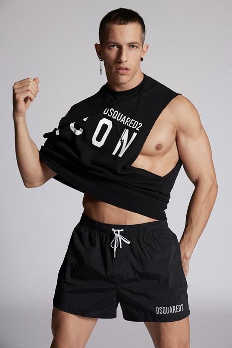 DSQUARED2 Men Swimming trunks Black Size 36 92% Polyamide 8% Elastane