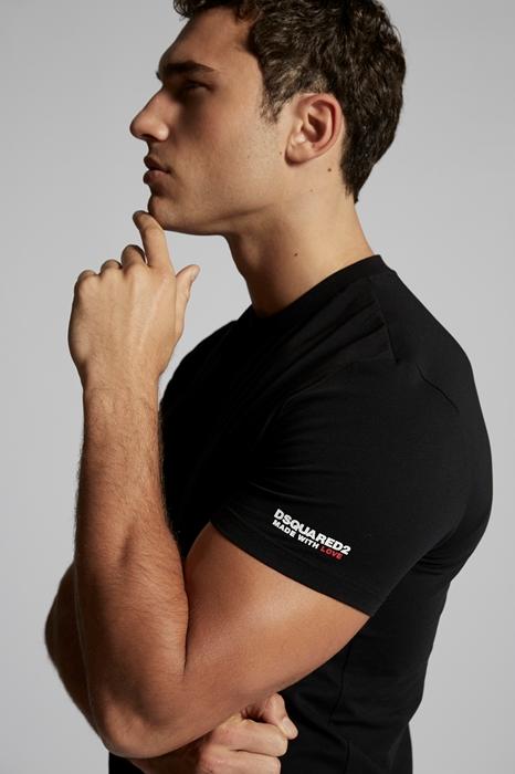 DSQUARED2 Men T-shirt Black Size XXL 95% Cotton 5% Elastane