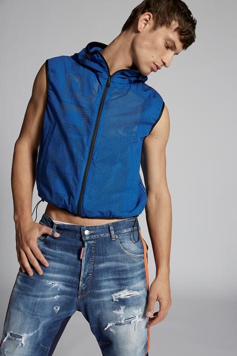 DSQUARED2 Men Vest Blue Size XL 100% Cotton