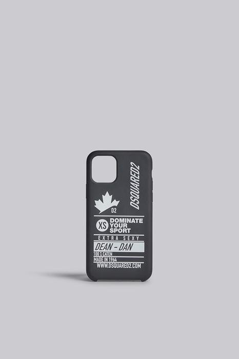 DSQUARED2 Men iPhone holder Black Size OneSize 35% Silicone 35% Acrylic 30% Polyurethane