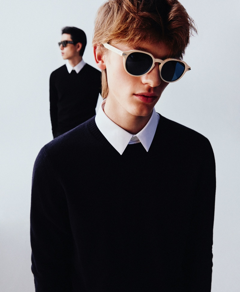 Mytheresa features Dior eyewear in a new campaign editorial with models Son Pham and Daniel O.