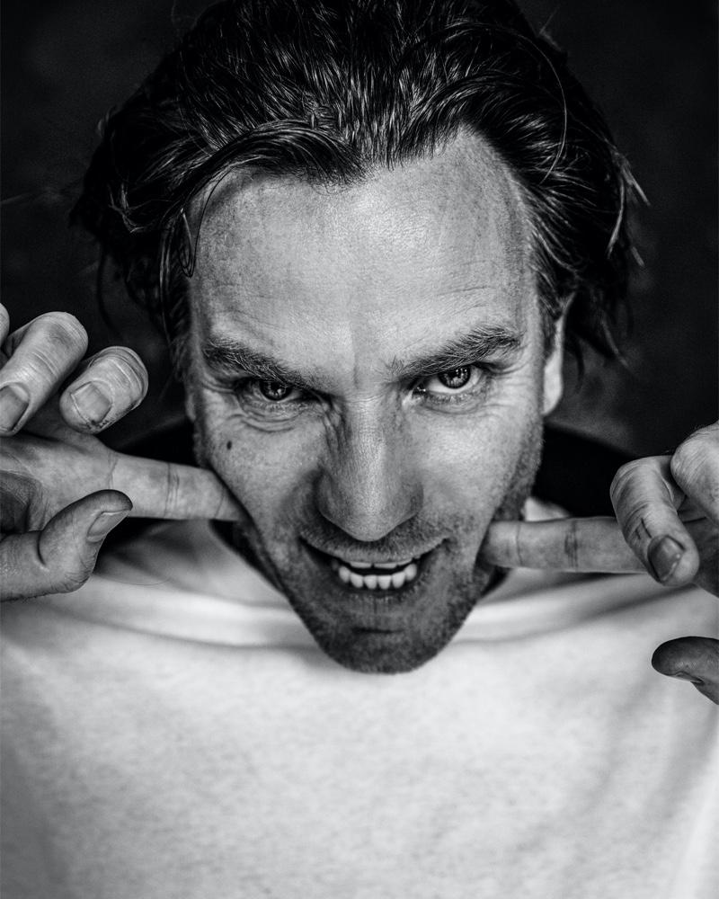 Damon Baker photographs Ewan McGregor for the latest issue of VMAN magazine.
