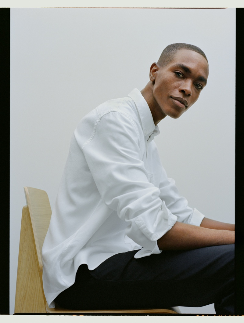 Filippa K enlists model Sharif Idris to sport pieces from its new Core collection.
