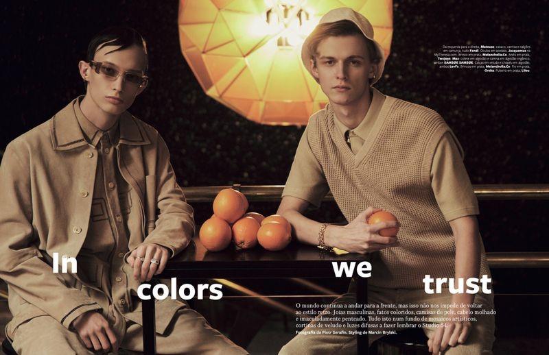 Mateusz & Max Don Monochromatic Fashions for GQ Portugal