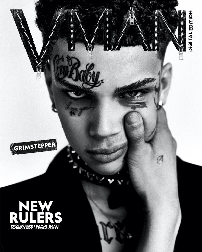 Damon Baker photographs Grimstepper for a digital VMAN cover.