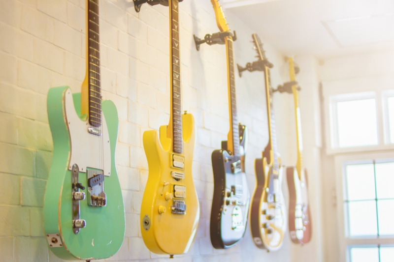 Guitar Collection Hanging