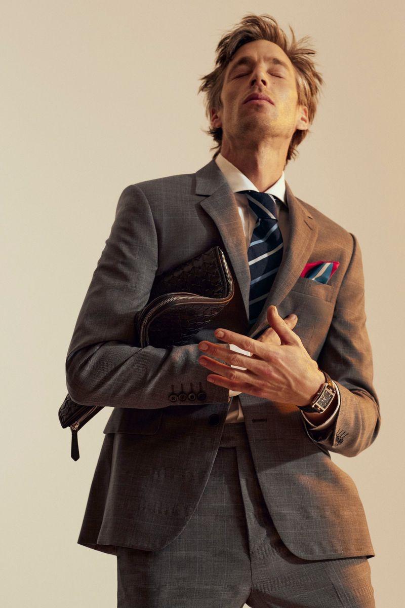 Joel Frampton Suits Up for Wall Street Italia