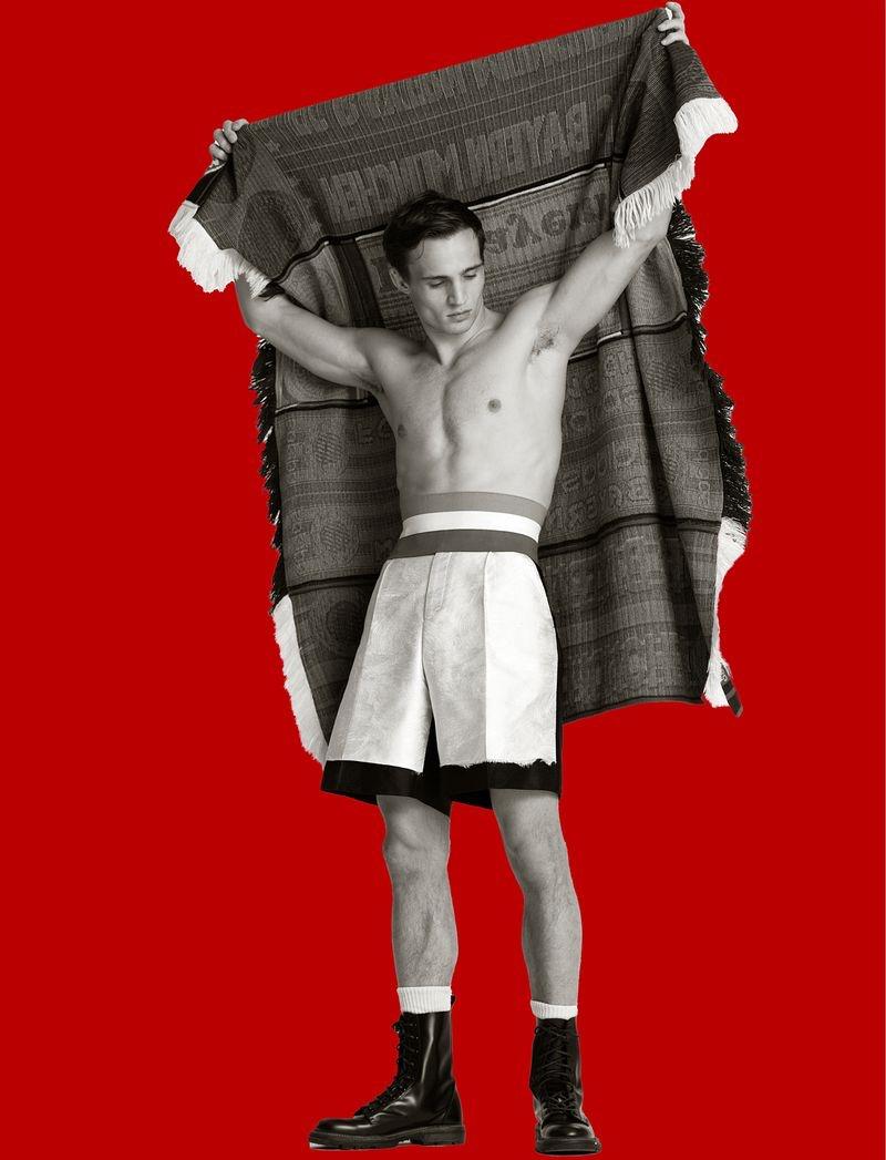 Julian Schneyder is in a Fighting Spirit for Numéro Homme