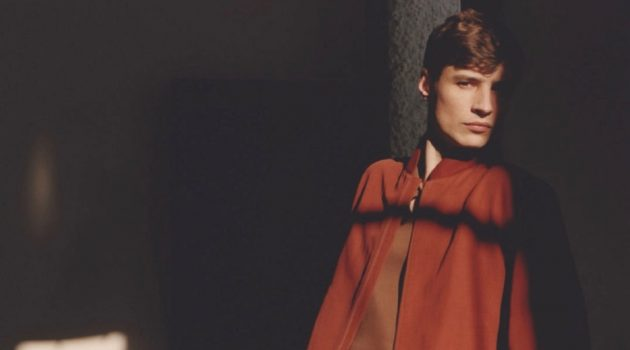 Adrien Sahores stars in Loro Piana's spring-summer 2021 men's campaign.