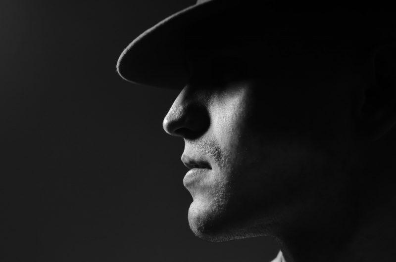 Male Model Fedora Silhouette