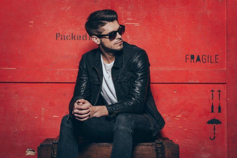 Male Model Leather Jacket