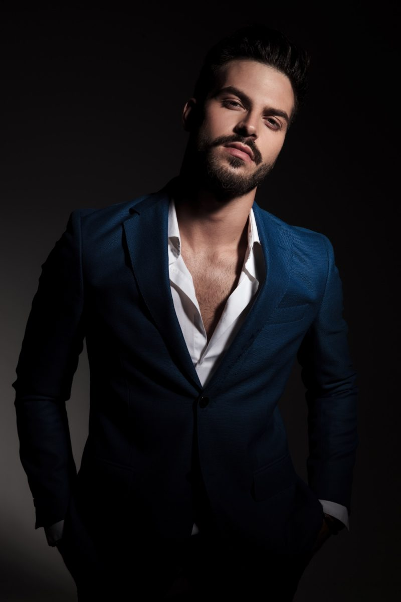 Male Model Suit Open Shirt Sexy