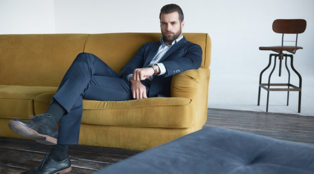 Male Model in Suit and Dress Shoes