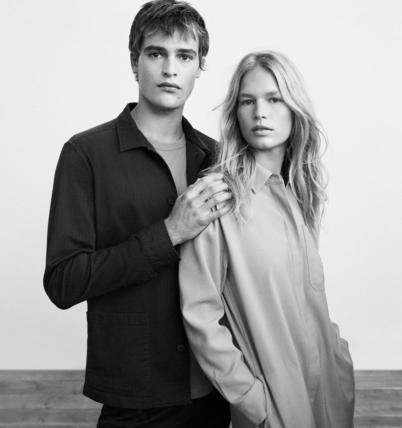 Models Parker van Noord and Anna Ewers come together for Marc O'Polo's spring-summer 2021 campaign.