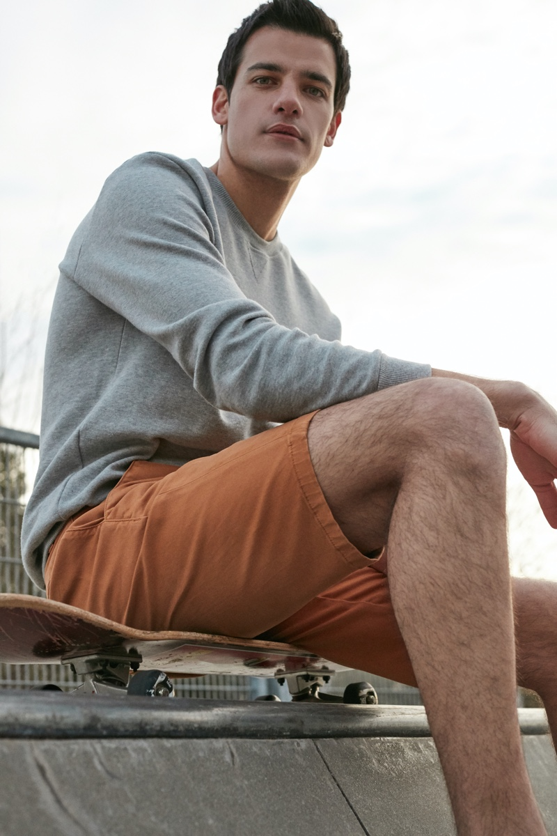 Alan Chan photographs Pedro Giaferris for Mavi's spring-summer 2021 men's campaign.