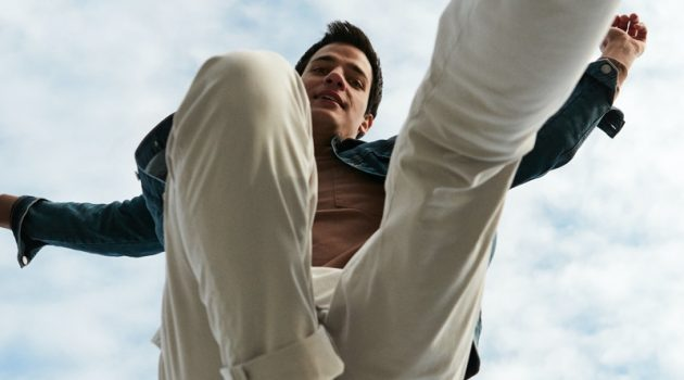 Pedro Giaferris stars in Mavi's spring-summer 2021 men's campaign.