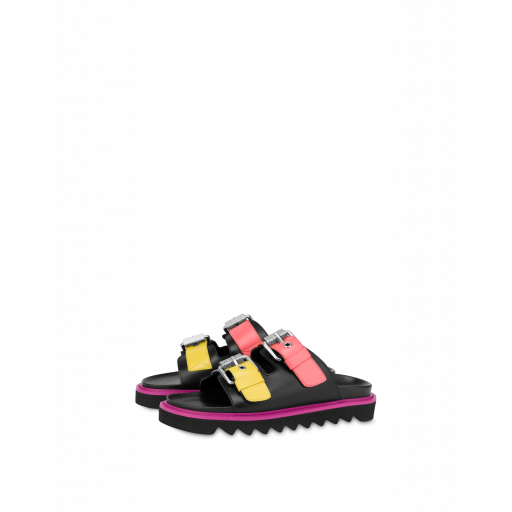 Moschino Buckels Colour Block Sandals