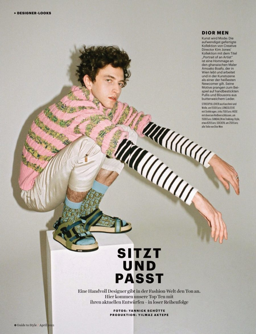 Niels Embraces Prints & Texture for Men's Health Germany