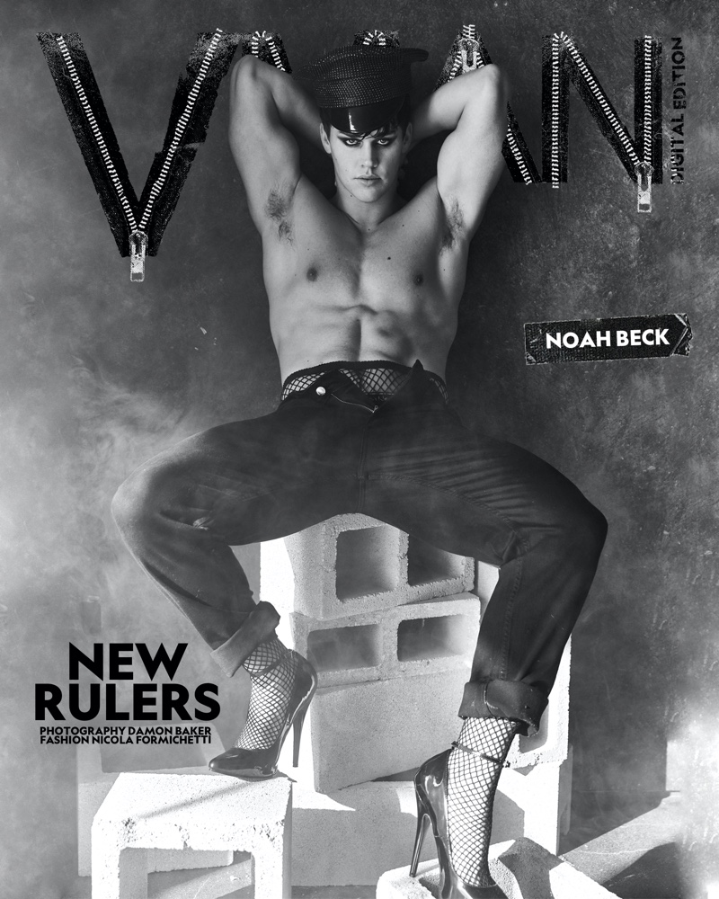 Noah Beck appears on a digital cover for VMAN.
