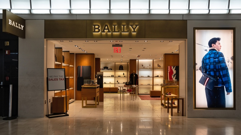 Outside Bally Store Front