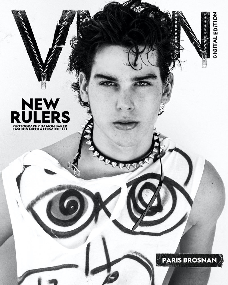 Paris Brosnan connects with VMAN for a digital cover.