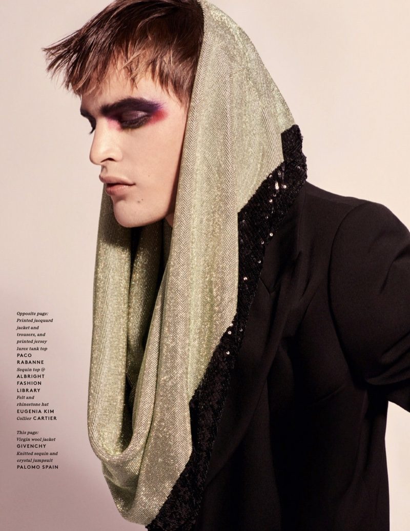 Freedom: Parker van Noord Sports Flamboyant Style for Vogue Hommes