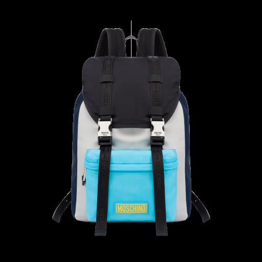 Rubber Logo Nylon Backpack