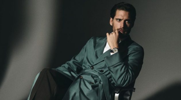 Simone Dons Dapper Numbers & Luxe Watches for Wall Street Italia