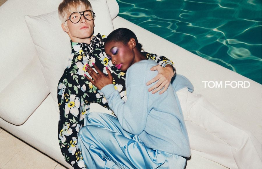Troy & Victor Don Chic Fashions for Tom Ford Spring Campaign