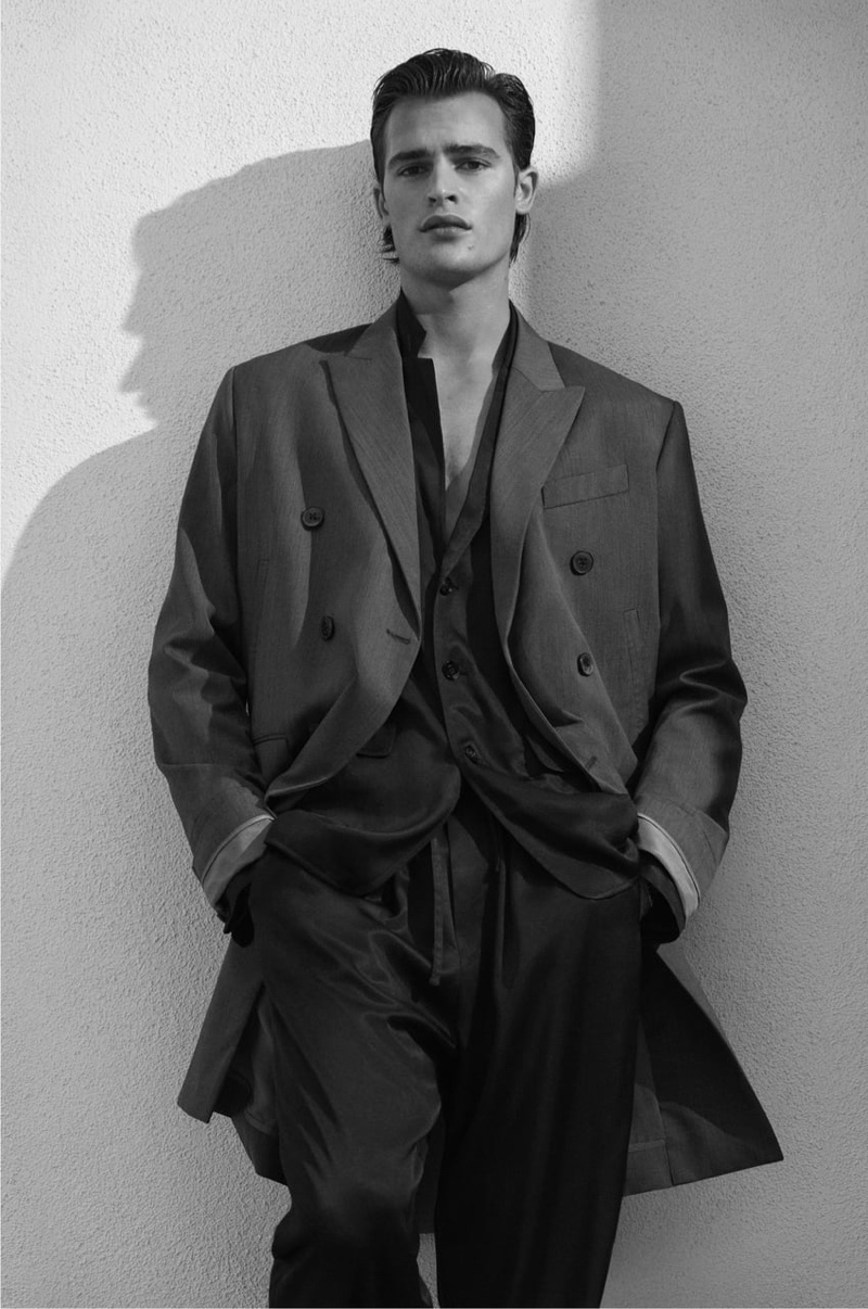 Craig McDean photographs Parker van Noord for Zara's spring-summer 2021 men's campaign.