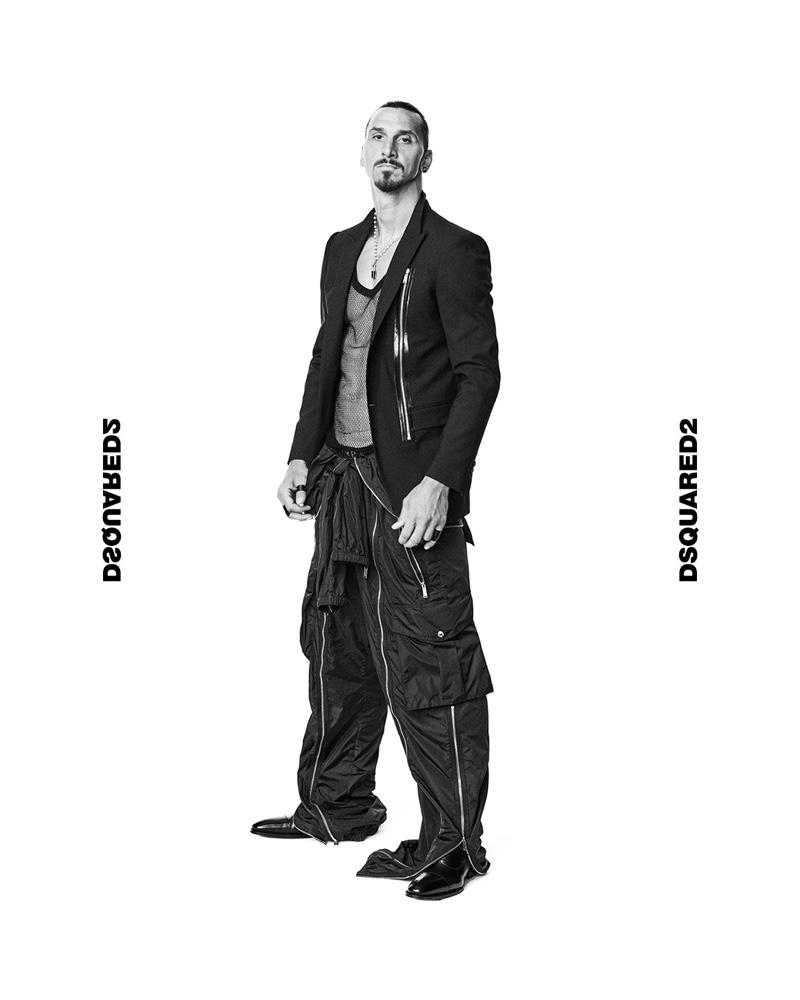 Zlatan Ibrahimović stars in Dsquared2's spring-summer 2021 men's campaign.