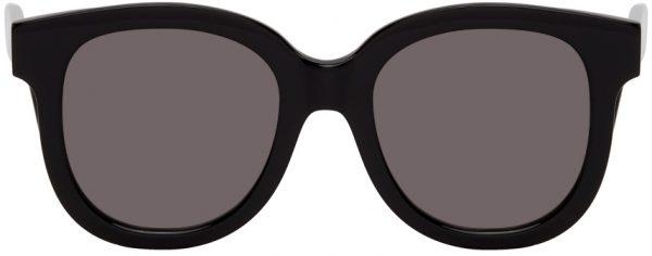 AMI Alexandre Mattiussi Black Round Sunglasses