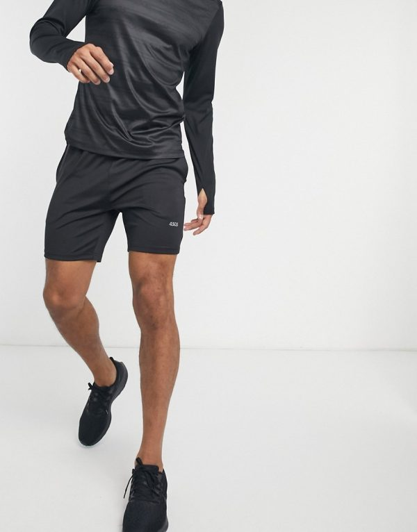 ASOS 4505 icon skinny training shorts with quick dry in black