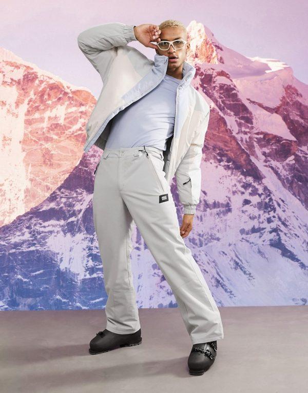 ASOS 4505 ski pants in gray-Grey