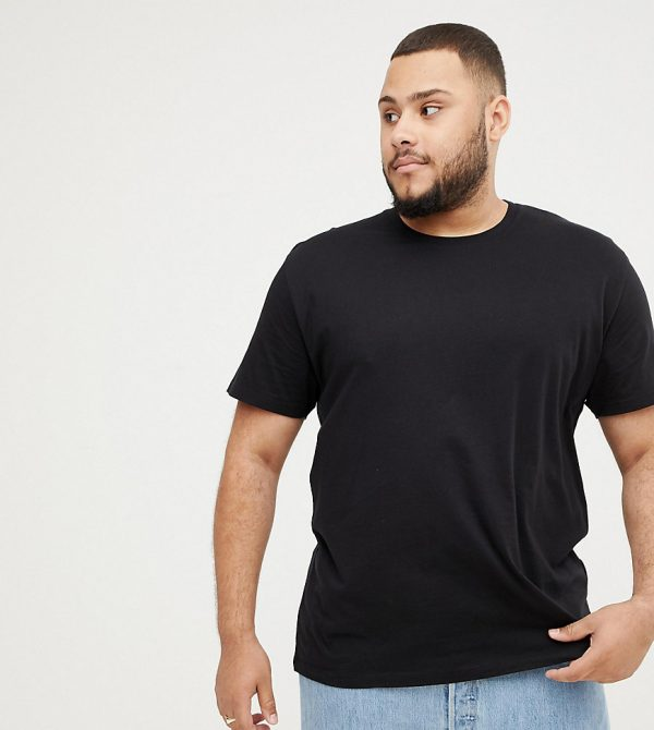 ASOS DESIGN Plus relaxed t-shirt with crew neck in black