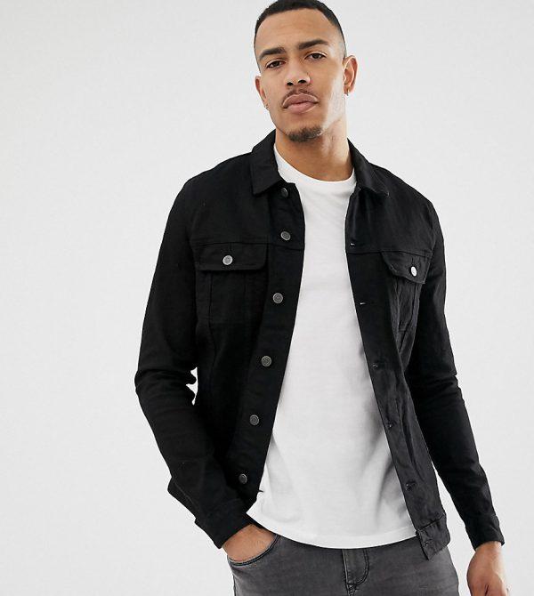 ASOS DESIGN Tall skinny western denim jacket in black