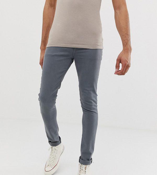 ASOS DESIGN Tall super skinny jeans in gray