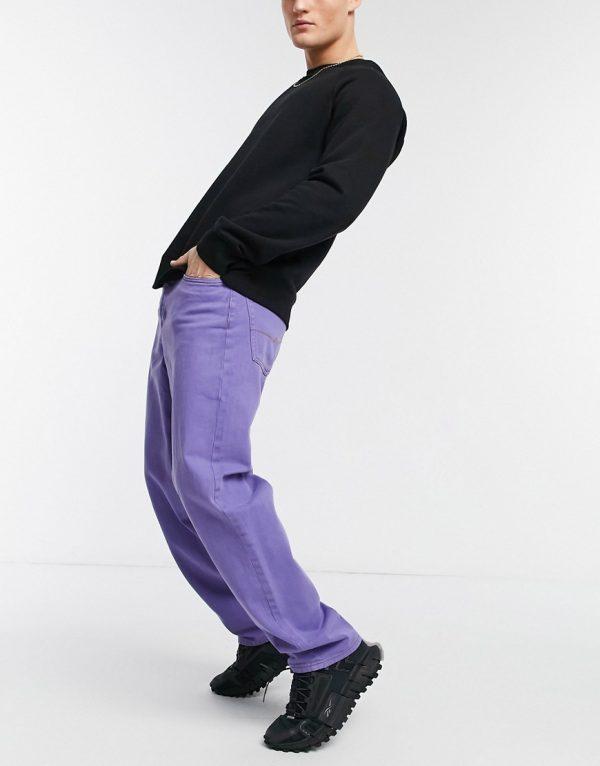ASOS DESIGN baggy jeans in purple