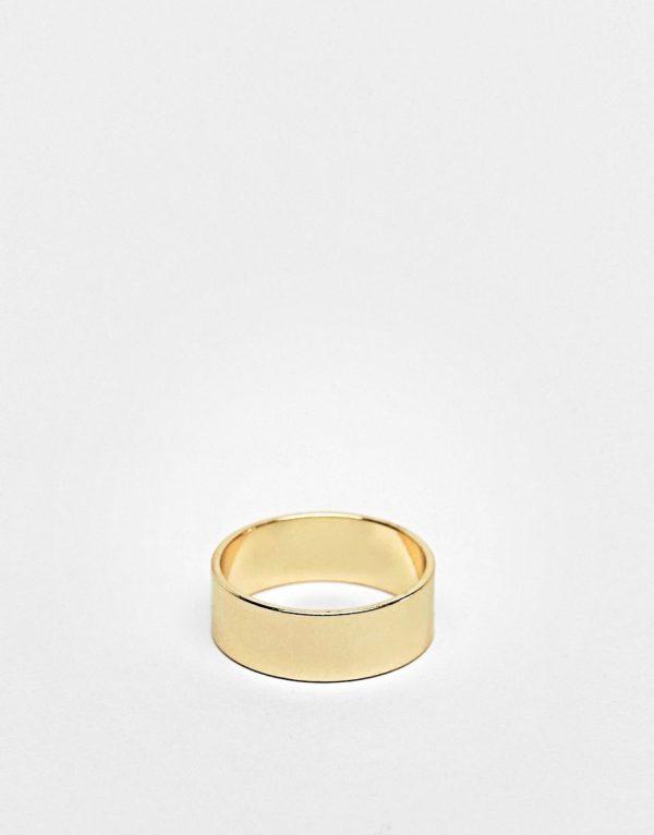 ASOS DESIGN band ring in gold tone