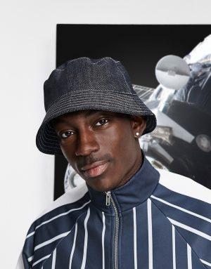 ASOS DESIGN bucket hat in denim-Black