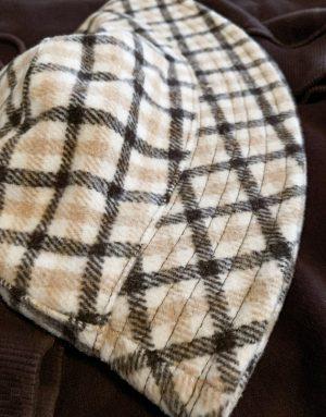 ASOS DESIGN bucket hat in melton check-Multi