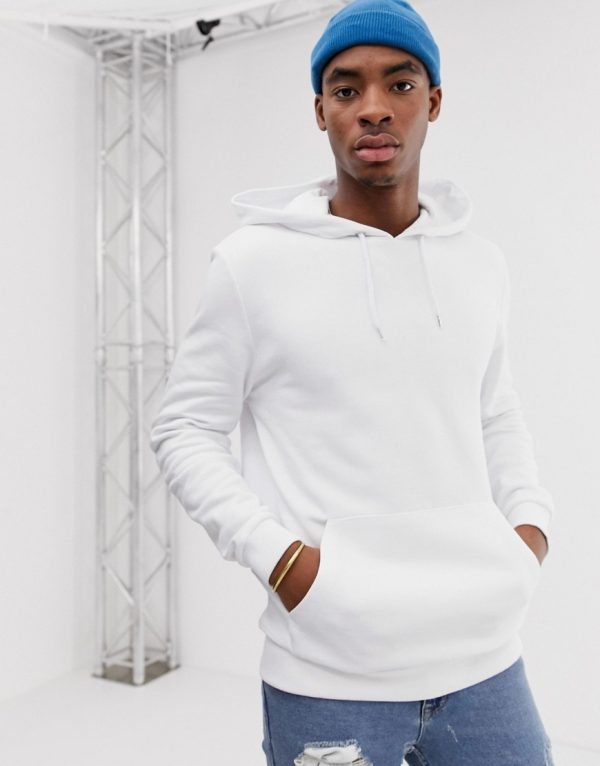 ASOS DESIGN hoodie in white