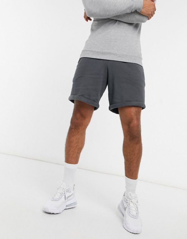 ASOS DESIGN jersey oversized shorts in washed black