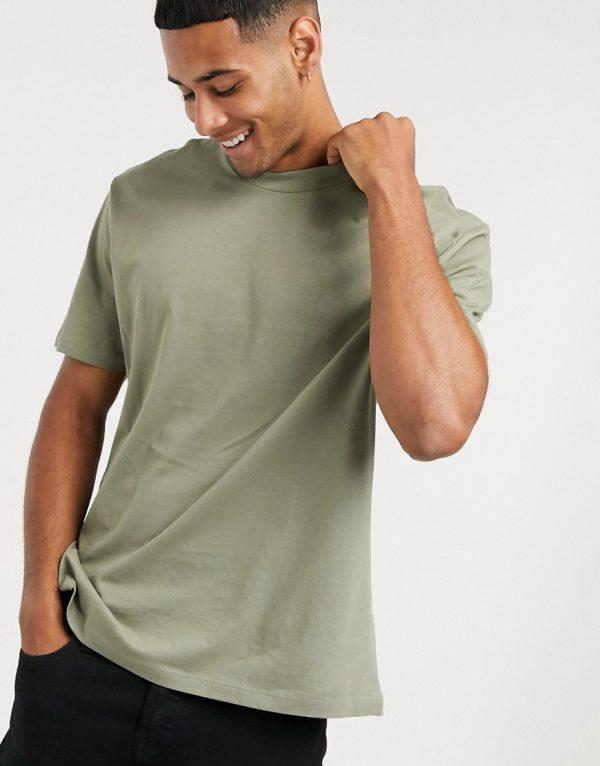 ASOS DESIGN organic relaxed t-shirt in green