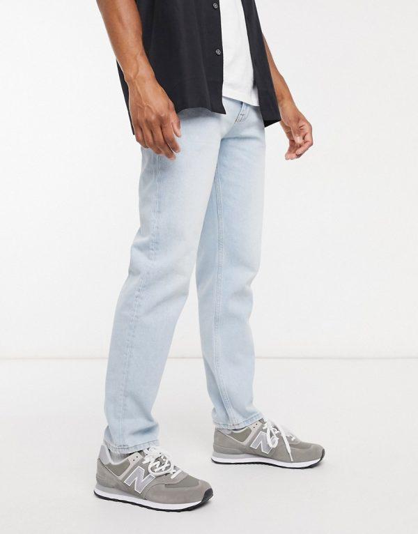 ASOS DESIGN original fit jeans light wash blue-Blues