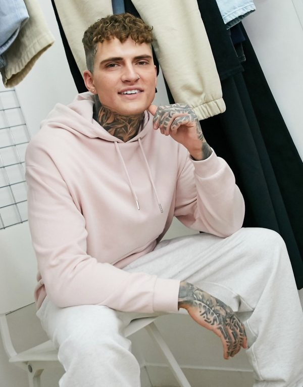 ASOS DESIGN oversized hoodie in pink